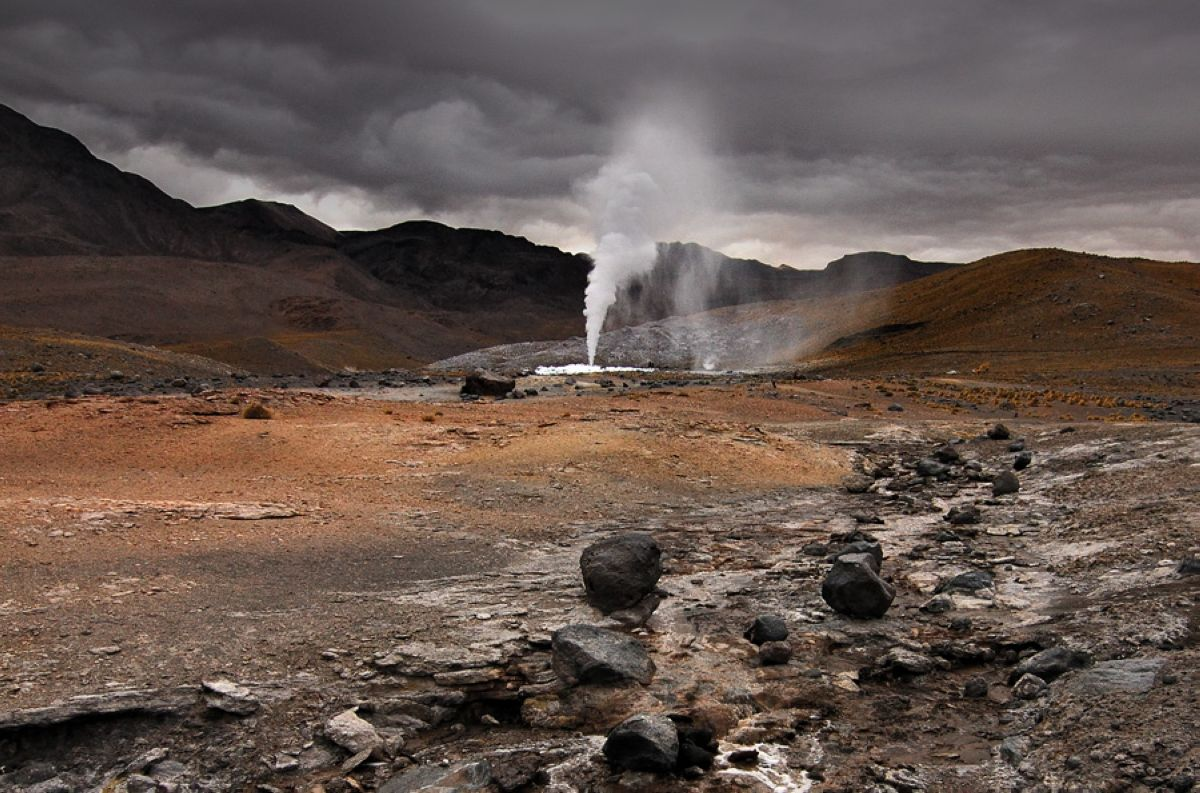 60m artificial fumarole at el tatio geothermal field