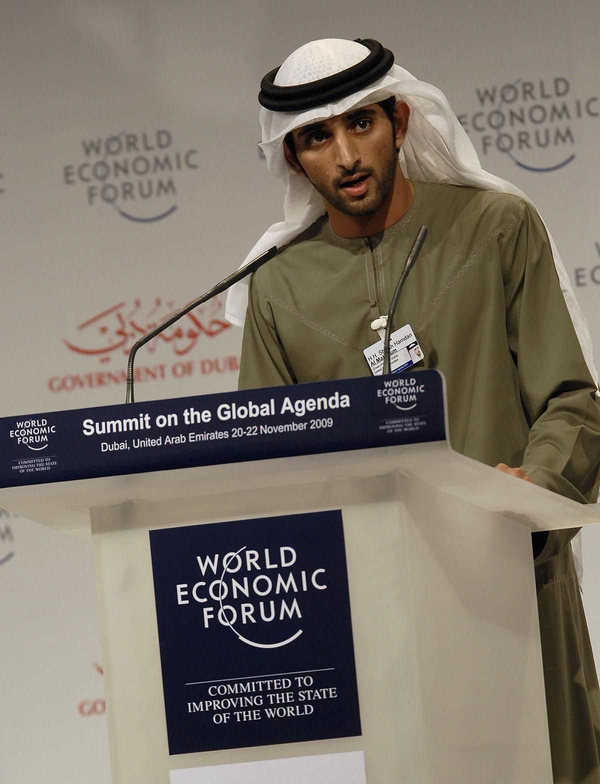 1200px H.H. Sheikh Hamdan Bin Mohammed Bin Rashid Al Maktoum in Summit on the Global Agenda