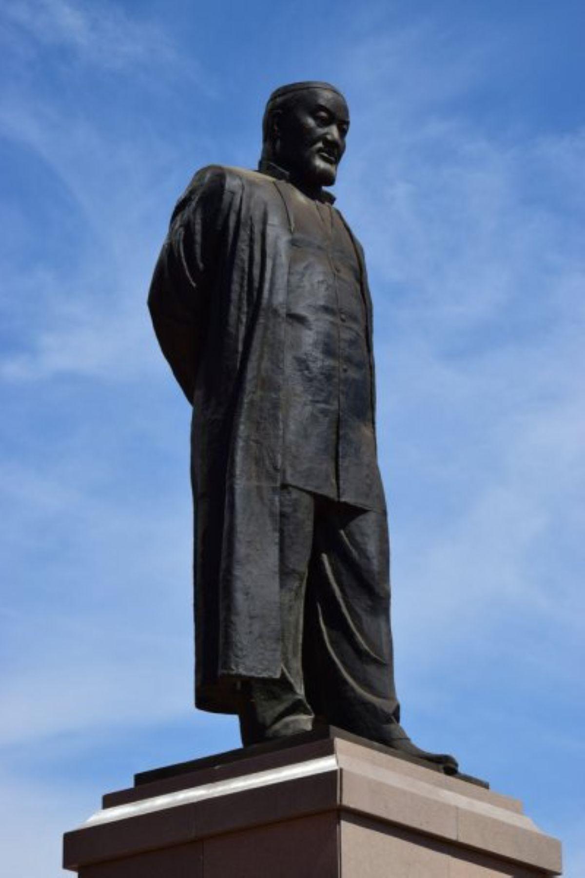 depositphotos 52622175 stock photo monument to abai kunanbayev in