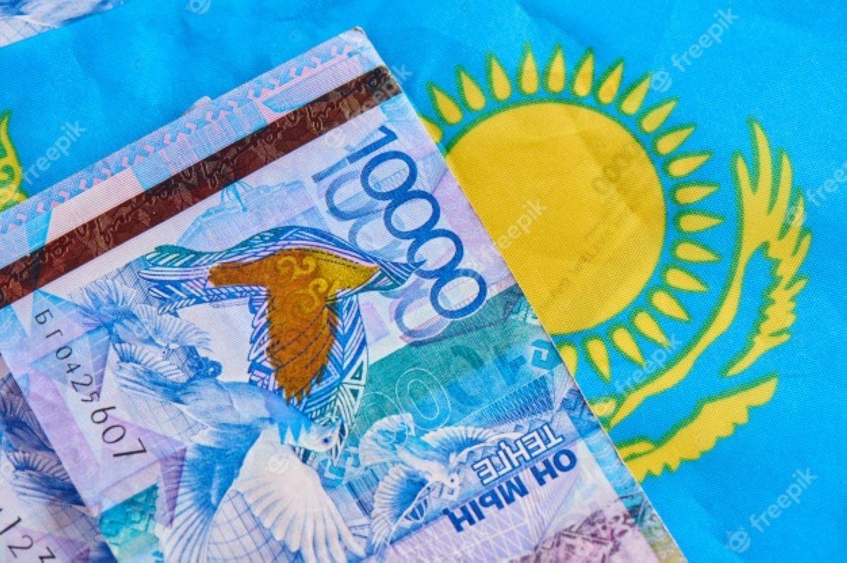 kazakh money tenge flag country economics finance asian countries 154092 112