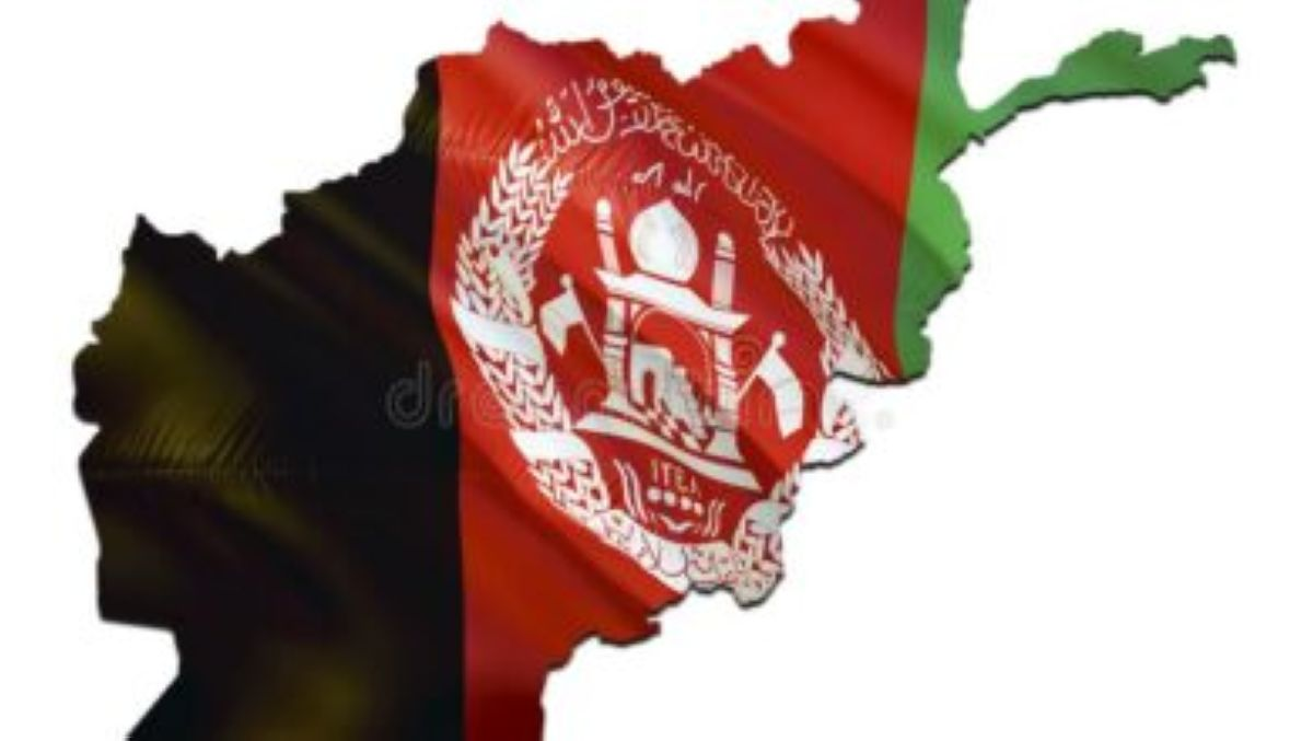karta na flage afganistana razvevaya d predstavlyaya kartu i flag karte 141391222